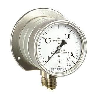 Manómetros estándar de diafragma para presión diferencial