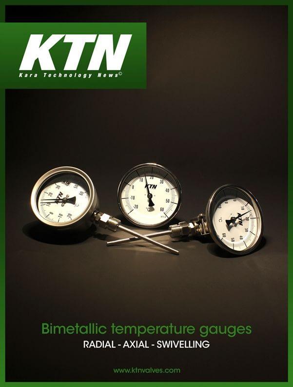 Axial bimetalic thermometer KTN 331A